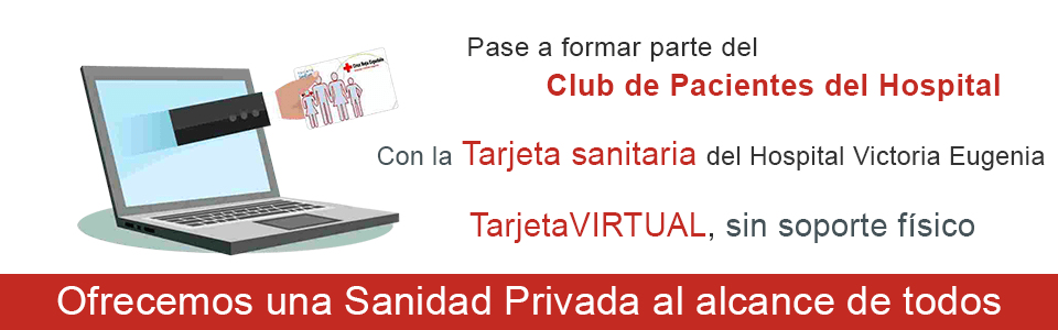Tarjeta Sanitaria virtual del hospital Victoria Eugenia Cruz Roja Sevilla